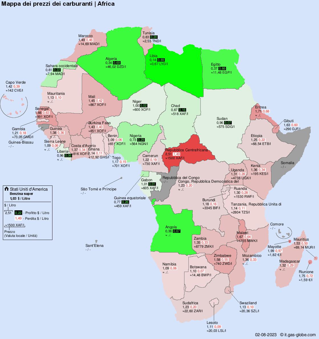 Mappa Africa Wwwtollebildcom